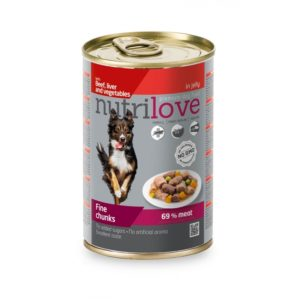Nutrilove Chunks Dog Beef Liver and Vegetable in jelly