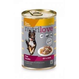 Nutrilove Chunks Dog Chicken Pasta in jelly