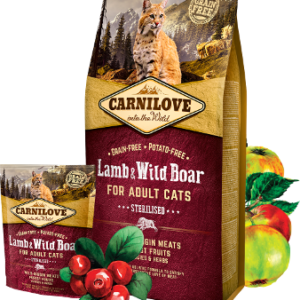 Carnilove Lamb & Wild Boar FOR STERILISED CATS (Ягненок Дикий кабан)